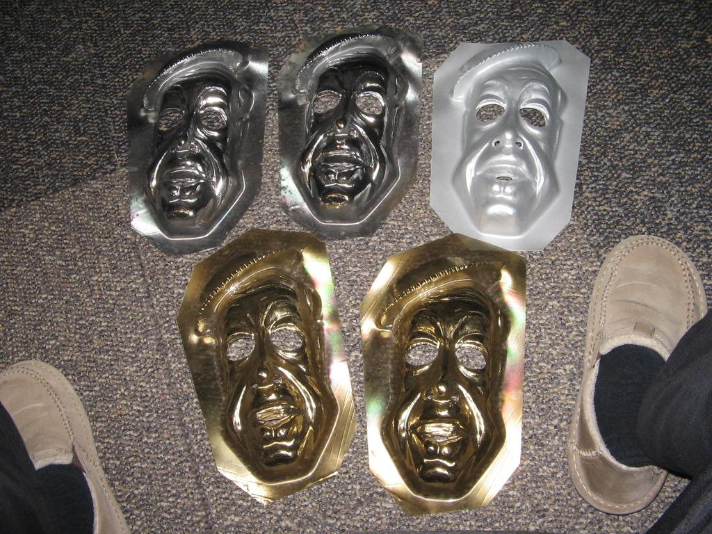 Wizard of OZ 1978,(1 GOLD) halloween mask factory test,Michael Jackson